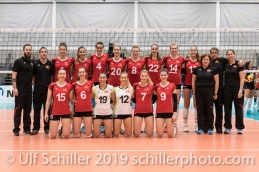 Team Schweiz / Suisse Volleyball European Championship Qualification Women Switzerland vs Austria on January 9, 2019 at Betoncoupe Arena in Schoenenwerd (Switzerland).