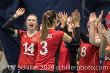 Match start (ZAUGG Livia (Suisse, #3)) Volleyball European Championship Qualification Women Switzerland vs Austria on January 9, 2019 at Betoncoupe Arena in Schoenenwerd (Switzerland).