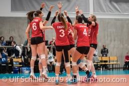 Punkt für die Schweiz / Suisse Volleyball European Championship Qualification Women Switzerland vs Austria on January 9, 2019 at Betoncoupe Arena in Schoenenwerd (Switzerland).