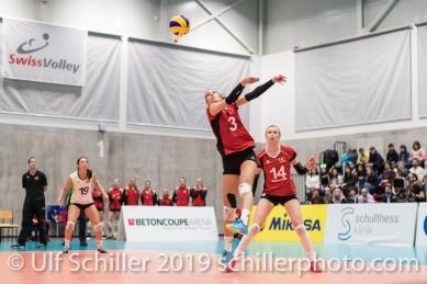 ZAUGG Livia (Suisse, #3) Volleyball European Championship Qualification Women Switzerland vs Austria on January 9, 2019 at Betoncoupe Arena in Schoenenwerd (Switzerland).
