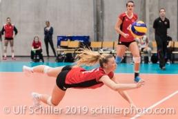 PIERRET Meline (Suisse, #7) Volleyball European Championship Qualification Women Switzerland vs Austria on January 9, 2019 at Betoncoupe Arena in Schoenenwerd (Switzerland).