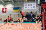 MATTER Madlaina (Suisse, #6) Volleyball European Championship Qualification Women Switzerland vs Austria on January 9, 2019 at Betoncoupe Arena in Schoenenwerd (Switzerland).