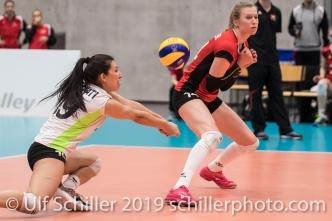 DEPRATI Thays (Suisse, #19) Volleyball European Championship Qualification Women Switzerland vs Austria on January 9, 2019 at Betoncoupe Arena in Schoenenwerd (Switzerland).