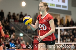 WASSNER Olivia (Suisse, #20) Volleyball European Championship Qualification Women Switzerland vs Austria on January 9, 2019 at Betoncoupe Arena in Schoenenwerd (Switzerland).