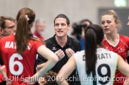 Timo Lippuner (Suisse, Headcoach) Volleyball European Championship Qualification Women Switzerland vs Austria on January 9, 2019 at Betoncoupe Arena in Schoenenwerd (Switzerland).