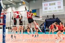KUENZLER Laura (Suisse, #14) Volleyball European Championship Qualification Women Switzerland vs Austria on January 9, 2019 at Betoncoupe Arena in Schoenenwerd (Switzerland).