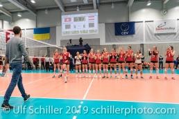 STORCK Maja (Suisse, #8) erhaelt den Best Player Award Volleyball European Championship Qualification Women Switzerland vs Austria on January 9, 2019 at Betoncoupe Arena in Schoenenwerd (Switzerland).