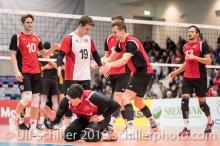 DJOKIC Jovan (Suisse, #18) frustriert Volleyball European Championship Qualification Men Switzerland vs Ukraine on January 9, 2019 at Betoncoupe Arena in Schoenenwerd (Switzerland).