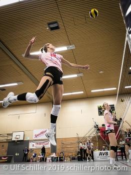 Dora Grozer (Sm'Aesch Pfeffingen #9) Volleyball NLA 2018-19 Playoffs Final Game 1 Sm'Aesch Pfeffingen vs NUC UC on April, 11, 2019 in Aesch (Switzerland).