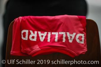 Trikot: Tabea Dailliard (Viteos NUC #9); Volleyball NLA 2018-19 Playoffs Final Game 1 Sm'Aesch Pfeffingen vs NUC UC on April, 11, 2019 in Aesch (Switzerland).