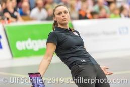 Lauren Bertolacci (Viteos NUC, Headcoach); Volleyball NLA 2018-19 Final Playoffs Game 3 Sm'Aesch Pfeffingen vs Viteos NUC on April, 22, 2019 in Aesch (Switzerland).