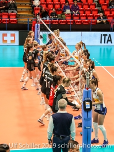 Match Start: Montreux Volley Masters Switzerland vs Italy 2019 on May, 16, 2019 in Montreux (Switzerland).