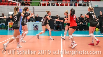 point by Maja Storck (Switzerland #8); Montreux Volley Masters Switzerland vs Italy 2019 on May, 16, 2019 in Montreux (Switzerland).