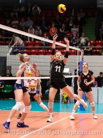 Sarah Troesch (Switzerland #11); Montreux Volley Masters Switzerland vs Italy 2019 on May, 16, 2019 in Montreux (Switzerland).
