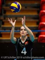 Gabi Schottroff (Switzerland #4); Montreux Volley Masters Switzerland vs Italy 2019 on May, 16, 2019 in Montreux (Switzerland).