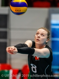 Maja Storck (Switzerland #8); Montreux Volley Masters Switzerland vs Italy 2019 on May, 16, 2019 in Montreux (Switzerland).