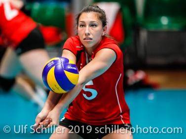 Thays Deprati (Switzerland #5); Montreux Volley Masters Switzerland vs Italy 2019 on May, 16, 2019 in Montreux (Switzerland).