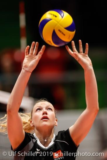 Meline Pierret (Switzerland #7); Montreux Volley Masters Switzerland vs Italy 2019 on May, 16, 2019 in Montreux (Switzerland).