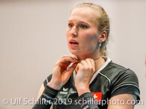 Laura Kuenzler c (Switzerland #14); Montreux Volley Masters Switzerland vs Italy 2019 on May, 16, 2019 in Montreux (Switzerland).