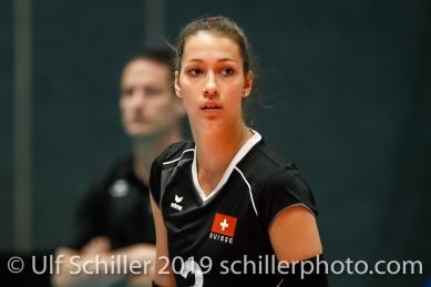 Livia Zaugg (Switzerland #3); Montreux Volley Masters Switzerland vs Italy 2019 on May, 16, 2019 in Montreux (Switzerland).