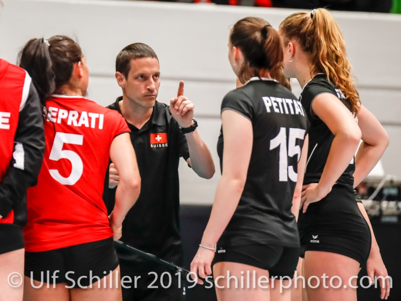 Timo Lippuner (Switzerland Headcoach); Montreux Volley Masters Switzerland vs Italy 2019 on May, 16, 2019 in Montreux (Switzerland).