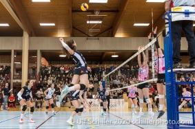 Sarina Brunner (TS Volley Duedingen Powercats, #11) Volleyball Swiss Cup Semifinal Volley Duedingen vs Sm'Aesch Pfeffingen on February 23, 2020 in Duedingen (Switzerland)