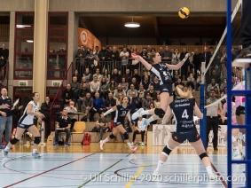Segolene Girard (TS Volley Duedingen Powercats, #15) Volleyball Swiss Cup Semifinal Volley Duedingen vs Sm'Aesch Pfeffingen on February 23, 2020 in Duedingen (Switzerland)