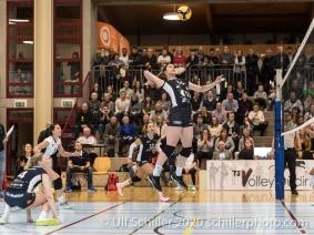 Samantha Cash (TS Volley Duedingen Powercats, #18) Volleyball Swiss Cup Semifinal Volley Duedingen vs Sm'Aesch Pfeffingen on February 23, 2020 in Duedingen (Switzerland)