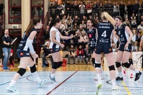 Point by Samantha Cash (TS Volley Duedingen Powercats, #18) Volleyball Swiss Cup Semifinal Volley Duedingen vs Sm'Aesch Pfeffingen on February 23, 2020 in Duedingen (Switzerland)