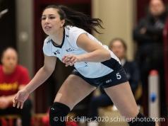 Thays Vanessa Deprati (TS Volley Duedingen Powercats, #5) Volleyball Swiss Cup Semifinal Volley Duedingen vs Sm'Aesch Pfeffingen on February 23, 2020 in Duedingen (Switzerland)