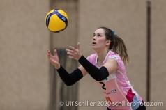 Luisa Schirmer (Sm'Aesch Pfeffingen #2) in action Volleyball Swiss Cup Semifinal Volley Duedingen vs Sm'Aesch Pfeffingen on February 23, 2020 in Duedingen (Switzerland)