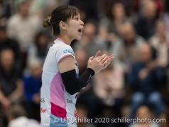 An Saita (Sm'Aesch Pfeffingen #7) Volleyball Swiss Cup Semifinal Volley Duedingen vs Sm'Aesch Pfeffingen on February 23, 2020 in Duedingen (Switzerland)