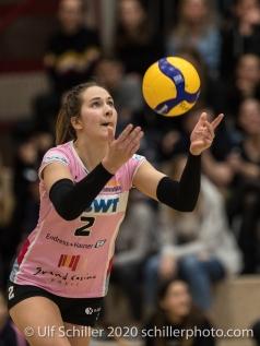 Luisa Schirmer (Sm'Aesch Pfeffingen) in action Volleyball Swiss Cup Semifinal Volley Duedingen vs Sm'Aesch Pfeffingen on February 23, 2020 in Duedingen (Switzerland)