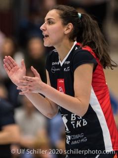 Simona Dimitrova (TS Volley Duedingen Powercats, #7) Volleyball Swiss Cup Semifinal Volley Duedingen vs Sm'Aesch Pfeffingen on February 23, 2020 in Duedingen (Switzerland)