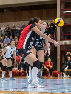 Simona Dimitrova (TS Volley Duedingen Powercats, #7) in action Volleyball Swiss Cup Semifinal Volley Duedingen vs Sm'Aesch Pfeffingen on February 23, 2020 in Duedingen (Switzerland)