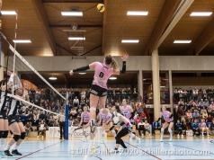 Monika Chrtianska (Sm'Aesch Pfeffingen #8) in action Volleyball Swiss Cup Semifinal Volley Duedingen vs Sm'Aesch Pfeffingen on February 23, 2020 in Duedingen (Switzerland)