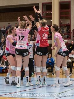Point for Sm'Aesch Volleyball Swiss Cup Semifinal Volley Duedingen vs Sm'Aesch Pfeffingen on February 23, 2020 in Duedingen (Switzerland)