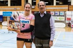 Luisa Schirmer (Sm'Aesch Pfeffingen #2) Volleyball Swiss Cup Semifinal Volley Duedingen vs Sm'Aesch Pfeffingen on February 23, 2020 in Duedingen (Switzerland)