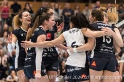 Volleyball Swiss Cup Semifinal Volley Duedingen vs Sm'Aesch Pfeffingen on February 23, 2020 in Duedingen (Switzerland)
