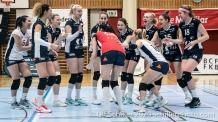 Match start Volleyball Swiss Championship Playoff Quarterfinal Volley Duedingen vs Cheseaux on February 26, 2020 in Duedingen (Switzerland)