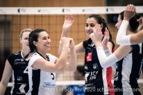Thays Vanessa Deprati (TS Volley Duedingen Powercats, #5) Volleyball Swiss Championship Playoff Quarterfinal Volley Duedingen vs Cheseaux on February 26, 2020 in Duedingen (Switzerland)
