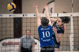 Simona Dimitrova (TS Volley Duedingen Powercats, #7) Volleyball Swiss Championship Playoff Quarterfinal Volley Duedingen vs Cheseaux on February 26, 2020 in Duedingen (Switzerland)