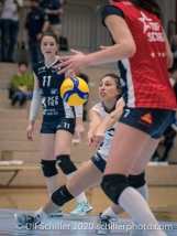 Thays Deprati (TS Volley Duedingen Powercats, #5) Volleyball Swiss Championship Playoff Quarterfinal Volley Duedingen vs Cheseaux on February 26, 2020 in Duedingen (Switzerland)