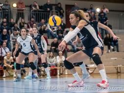 Ines Granvorka (TS Volley Duedingen Powercats, #13) Volleyball Swiss Championship Playoff Quarterfinal Volley Duedingen vs Cheseaux on February 26, 2020 in Duedingen (Switzerland)