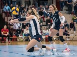 Flavia Knutti (TS Volley Duedingen Powercats, #16) Volleyball Swiss Championship Playoff Quarterfinal Volley Duedingen vs Cheseaux on February 26, 2020 in Duedingen (Switzerland)
