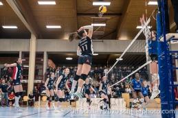 Sarina Brunner (TS Volley Duedingen Powercats, #11) Volleyball Swiss Championship Playoff Quarterfinal Volley Duedingen vs Cheseaux on February 26, 2020 in Duedingen (Switzerland)