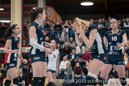Meline Pierret (TS Volley Duedingen Powercats, #4) Volleyball Swiss Championship Playoff Quarterfinal Volley Duedingen vs Cheseaux on February 26, 2020 in Duedingen (Switzerland)