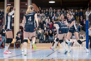 Match Point Sarina Brunner (TS Volley Duedingen Powercats, #11) Volleyball Swiss Championship Playoff Quarterfinal Volley Duedingen vs Cheseaux on February 26, 2020 in Duedingen (Switzerland)